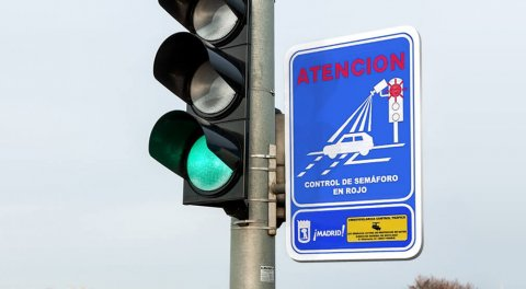 Traffic light cameras in Madrid