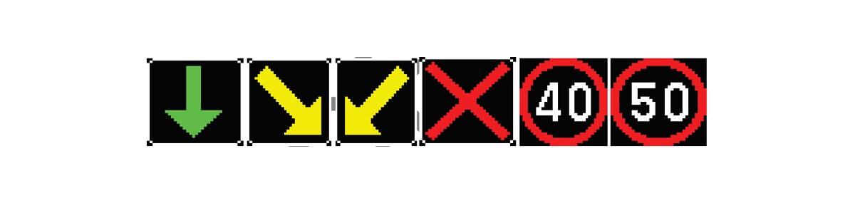 señalización incidencias m30 paneles graficos de carril PGC