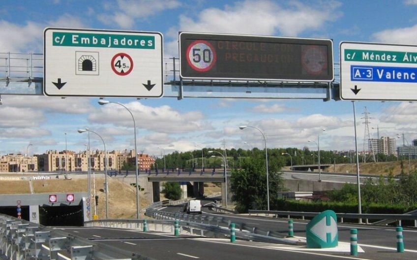 señalización incidencias m30